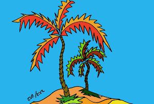 dibuja y colorea una palmera