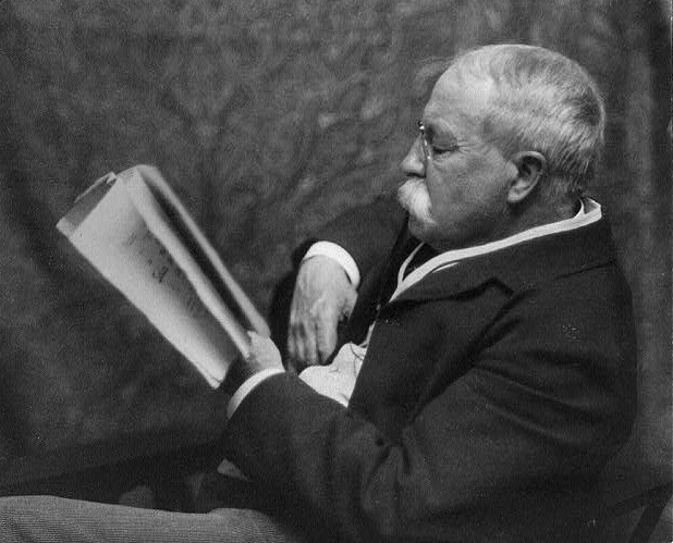 American writer William Dean Howells (1837-1920), cca. 1900