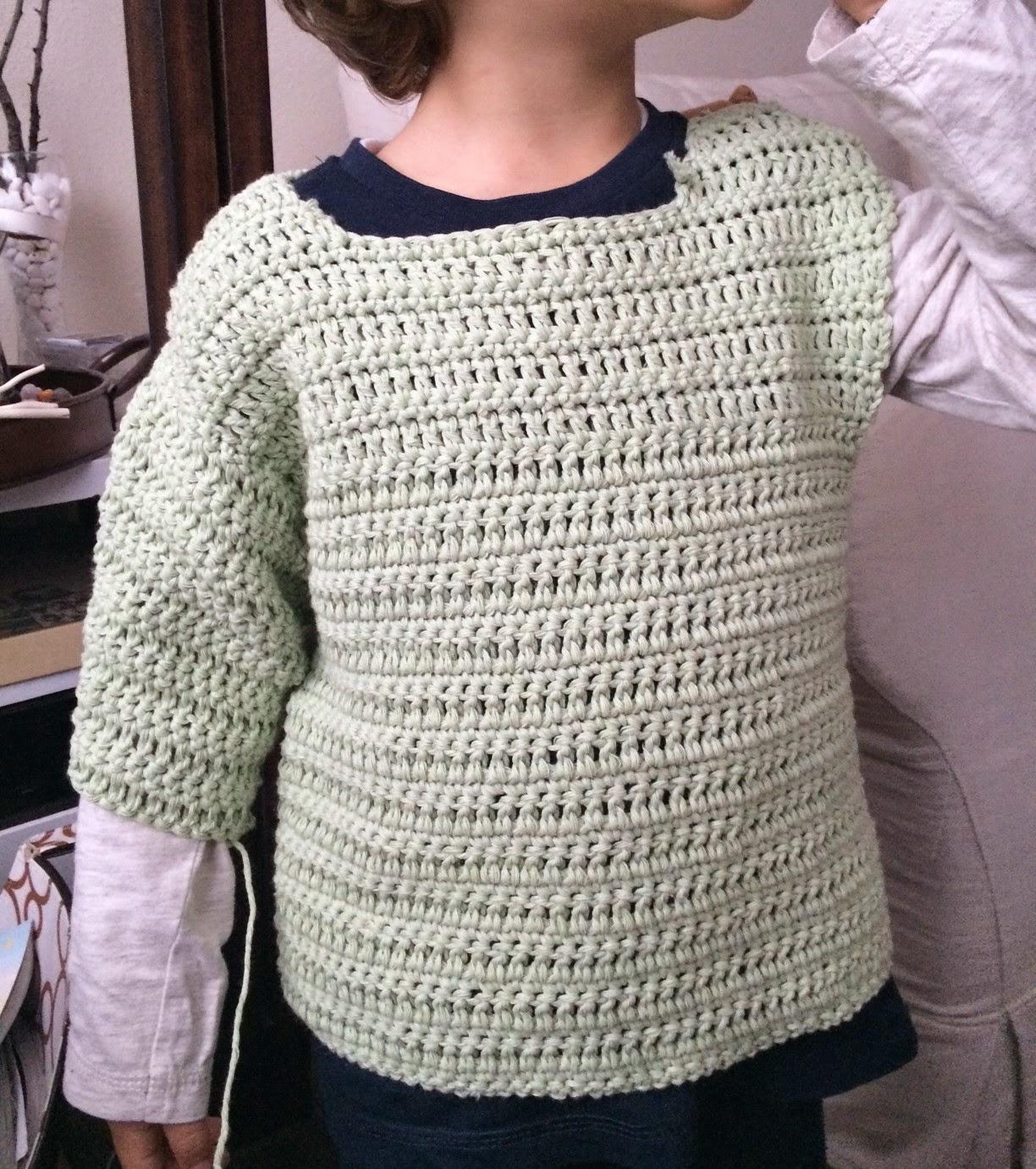 Dorable Niño Patrón Suéter Crochet Cresta - Manta de Tejer Patrón de ...