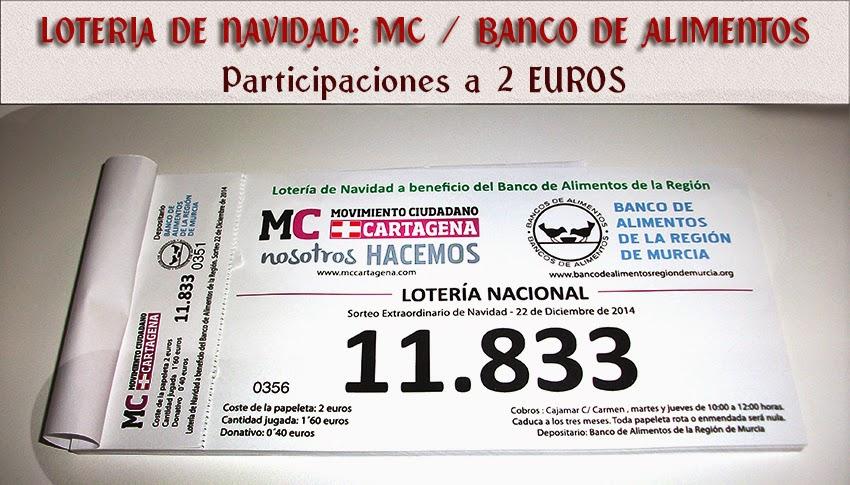 El noticiero digital de cartagena el 11 833 es la loteria de navidad de movimiento ciudadano a - Banco de alimentos wikipedia ...