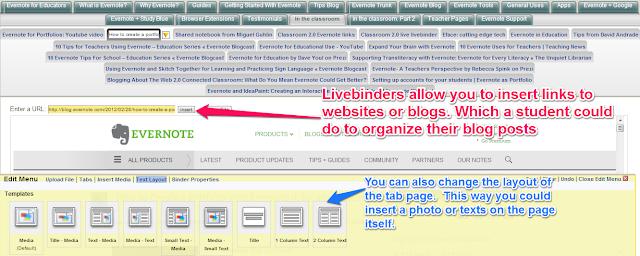 Building a digital portfolio with Livebinders
