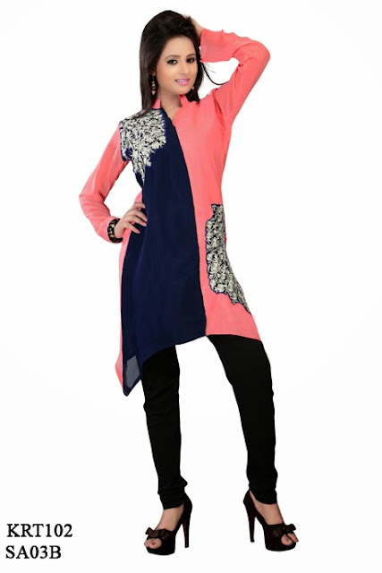 Online Shopping For Ladies Fashionable Georgette Kurti