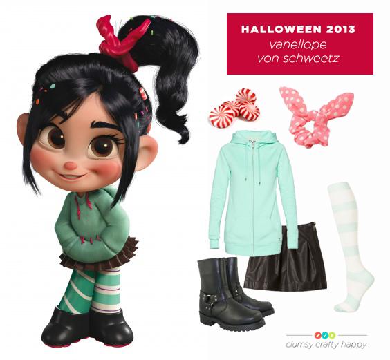 Wreck-It Ralph Vanellope Von Schweetz Halloween Costume