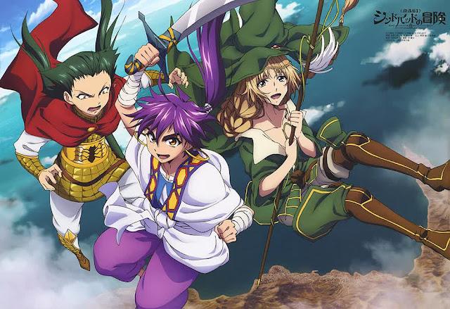 'Magi: Sinbad no Bouken' Akan Dibuatkan Serial Anime Dan Tayang April