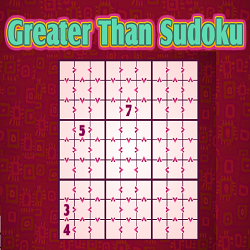 Online Inequality or Greater Than Sudoku (Logical Thinking Puzzle Game)