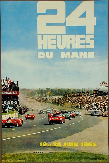 Affiche officielle des 24 Heures du Mans 1965