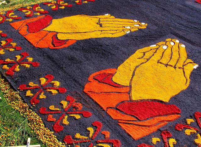 Alfombras de semana santa for Dibujos para alfombras