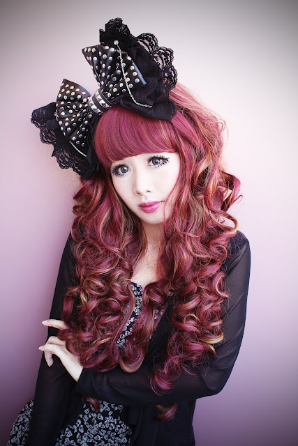 Doll Delight - Punk Lolita - Black Leather and Lace
