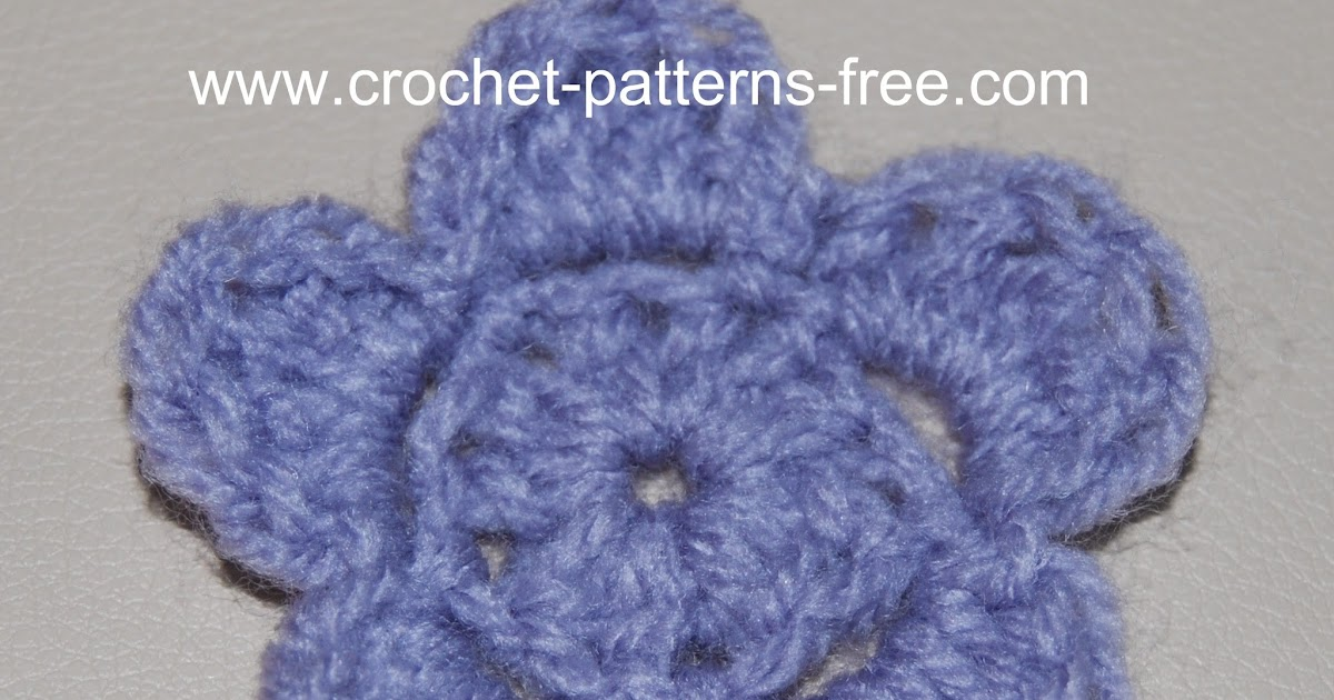 Free Crochet Patterns And Designs By Lisaauch : Free Crochet Flower Pattern Free Crochet Patterns and ...