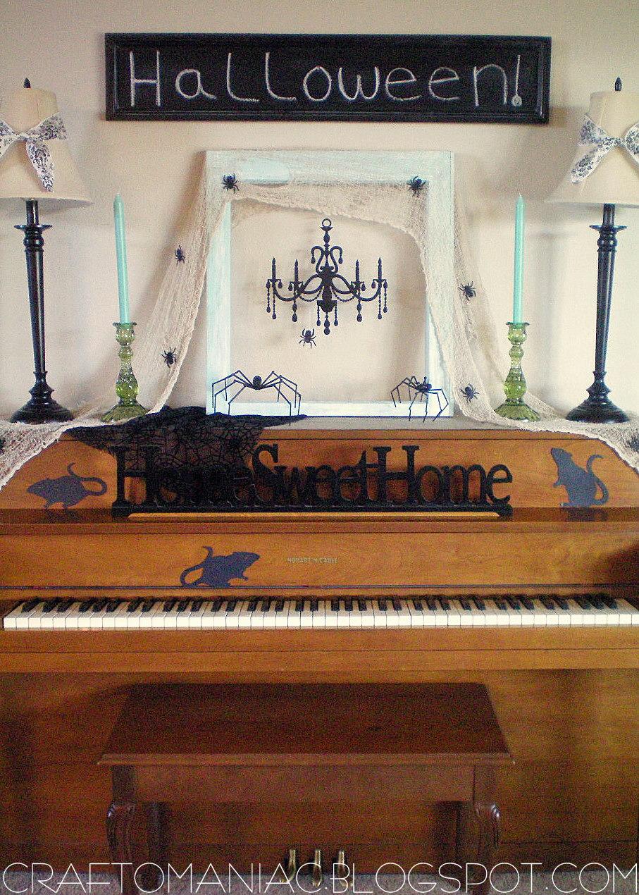 halloween decor creepy crawly piano craft o maniac krumpets home decor offers diy items getcreative