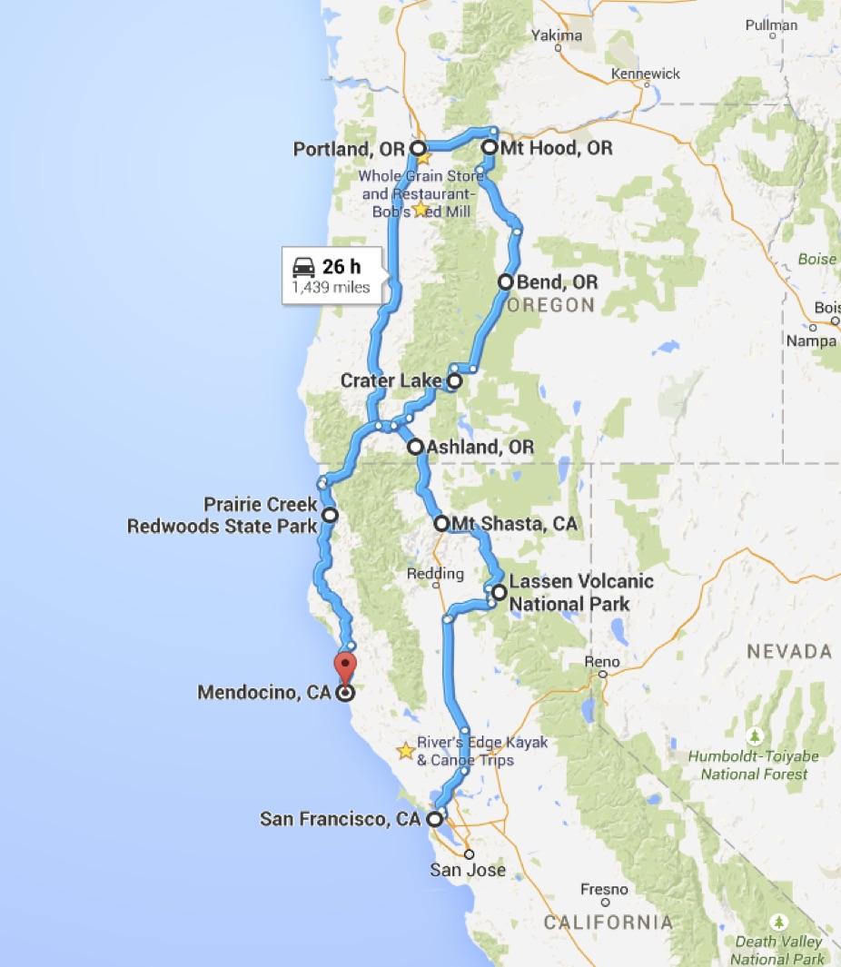 Power Travelers California Oregon Road Trip Planning