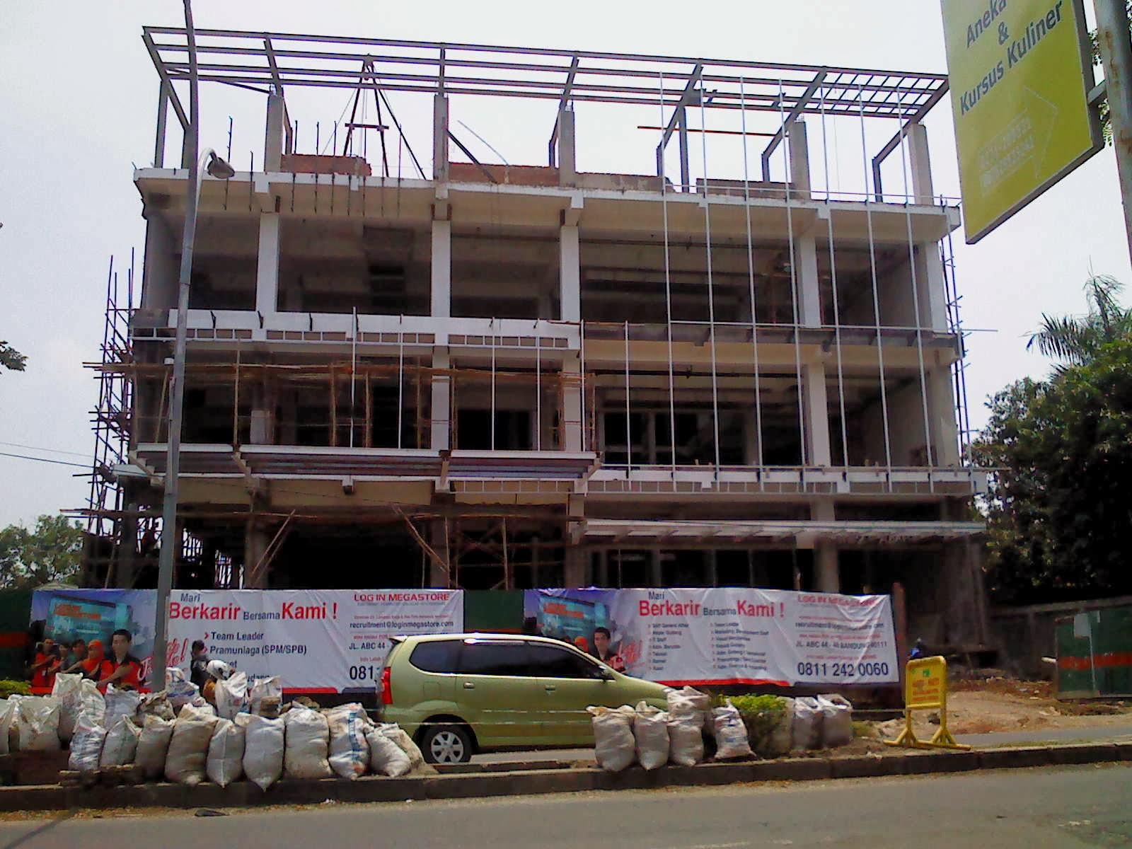 Pembangunan Login Megastore Jl.Dr.Cipto-Kota Cirebon , 15 Februari 2014