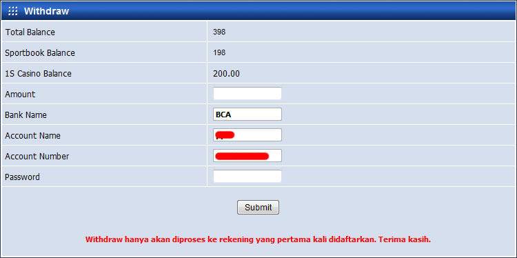 pendaftar userID baru yang ada di menu Registrasi seperti di atas