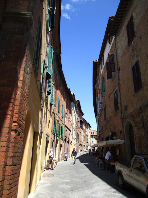 Street in Siena, Italy.