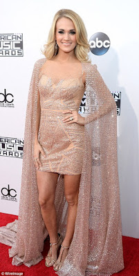 stars on red carpet American Music awards 2015
