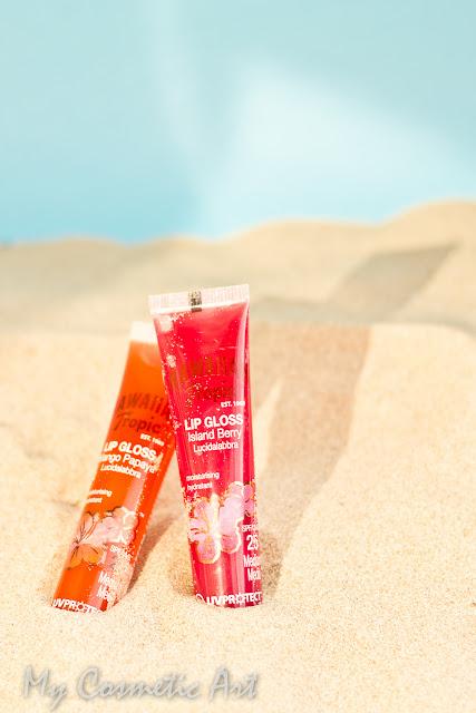 Brillos de labios con protección solar de Hawaiian Tropic.