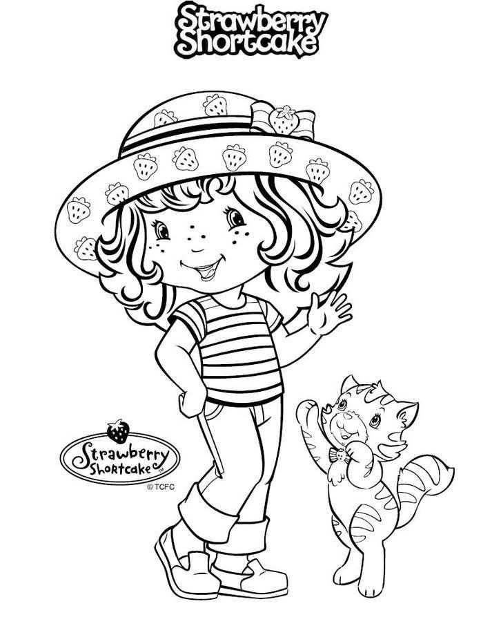 Dibujos de Rosita Fresita y Amigas para colorear | Dibujos Para Colorear
