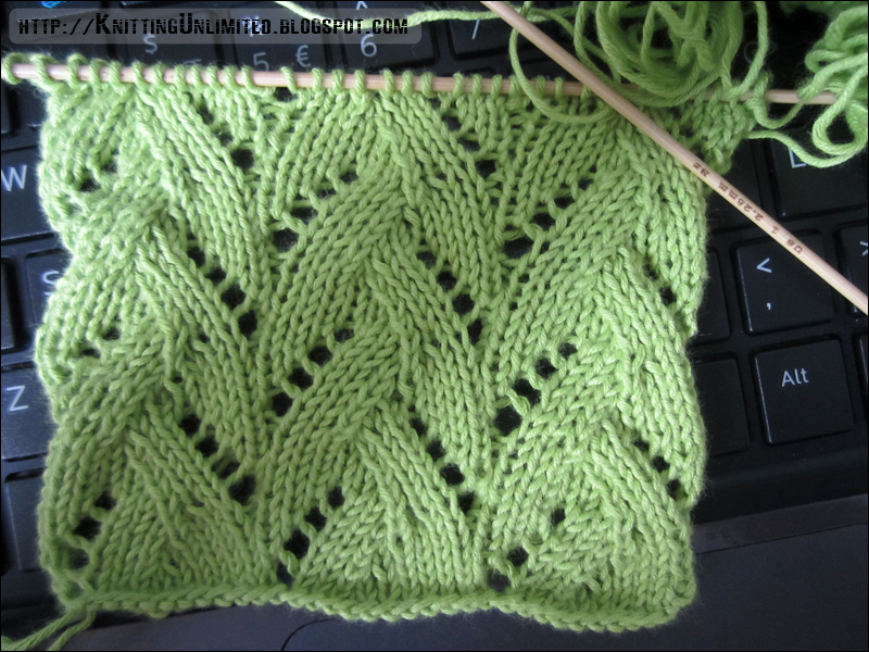 Knitting Yarn Over Purl Stitch : Lace knitting pattern braided stitch unlimited