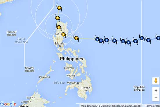Bagyong Lando to hit Isabela as a strong typhoon - October 16, 2015