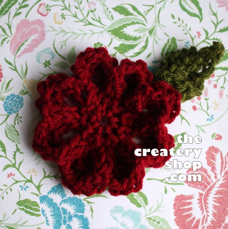 The Createry Shop: Easy Flower Knitting Pattern in One Piece (Bella)