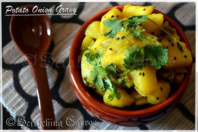 Potato Onion Coriander Leaves Curry