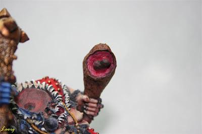 Pintura de la carne roja del muslo de carne de Grasientus Dientetoro