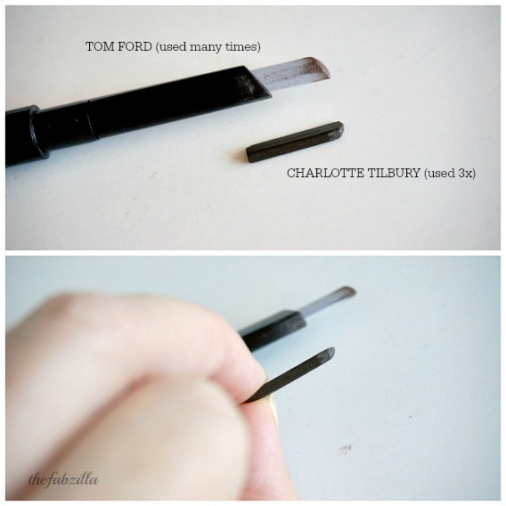 worst beauty purchase 2014, review, charlotte tilbury, eyebrow three way shade lift shape, swatch