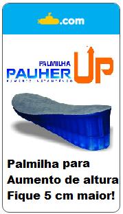 Palmilha p/ aumento de altura