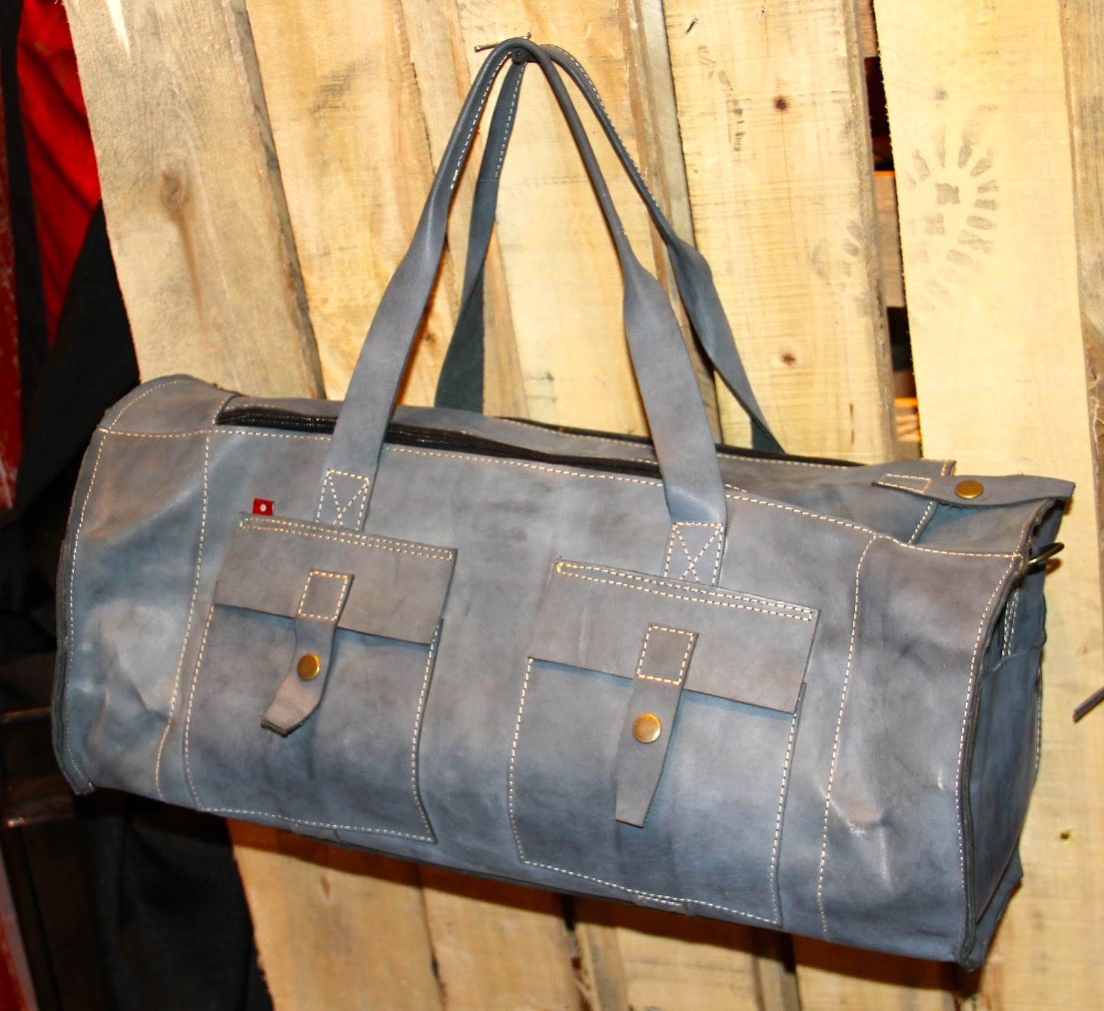 GYMANO bags available now -light brushed grey $300