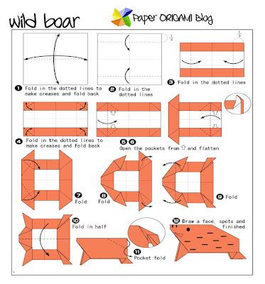 Origami Wild Boar