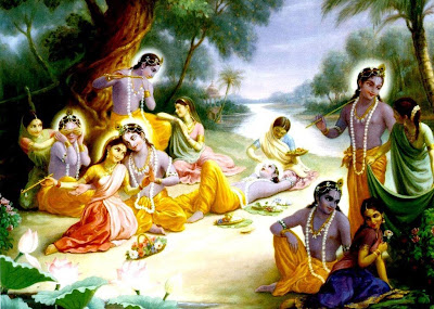 Lord Krishna with Gopis