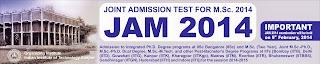 IIT JAM Admit Card 2014