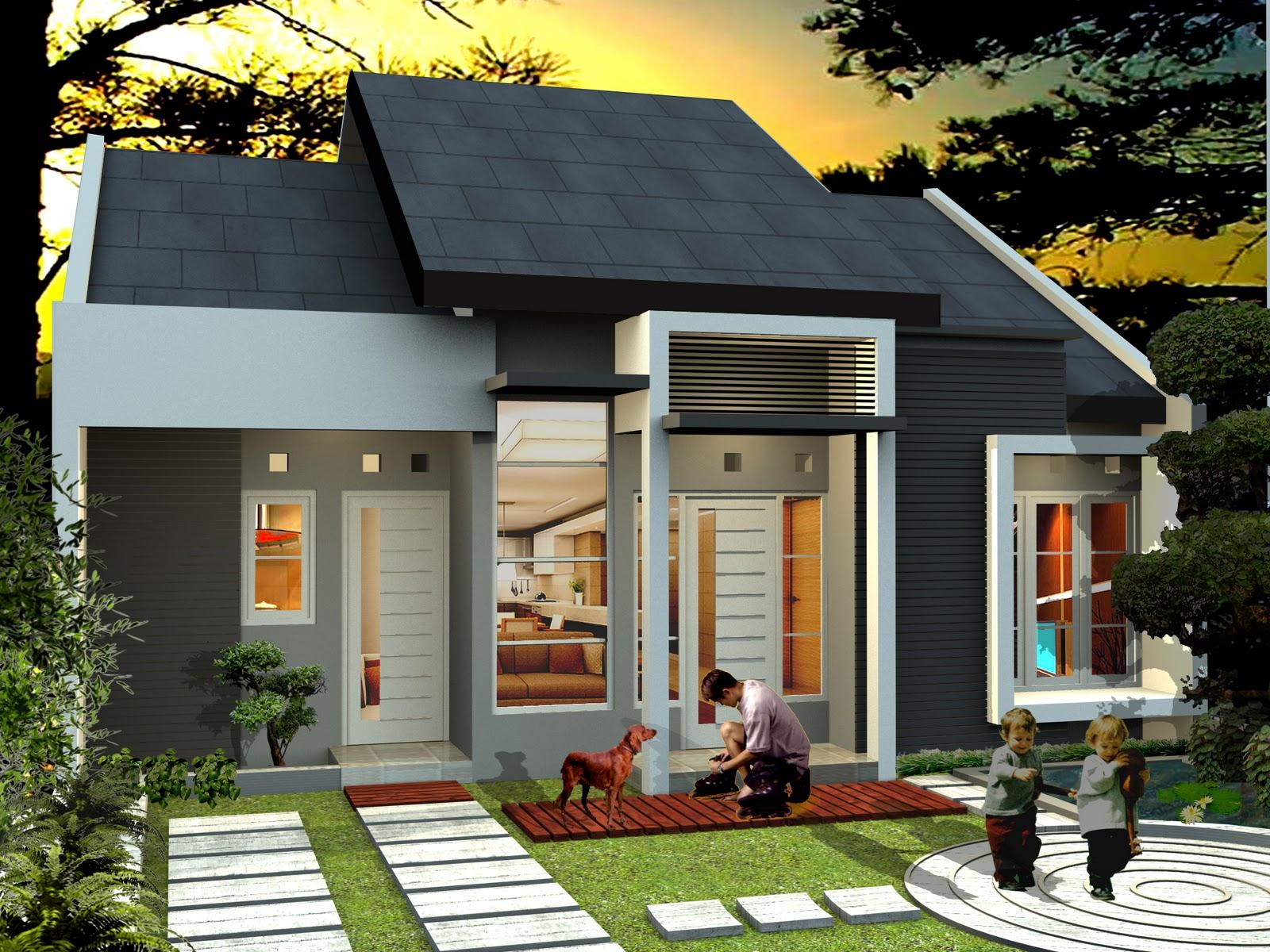 foto desain eksterior arsitektur rumah minimalis menarik