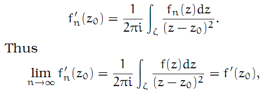 Complex Analysis: #13 Weierstrass`s Convergence Theorem equation pic 2