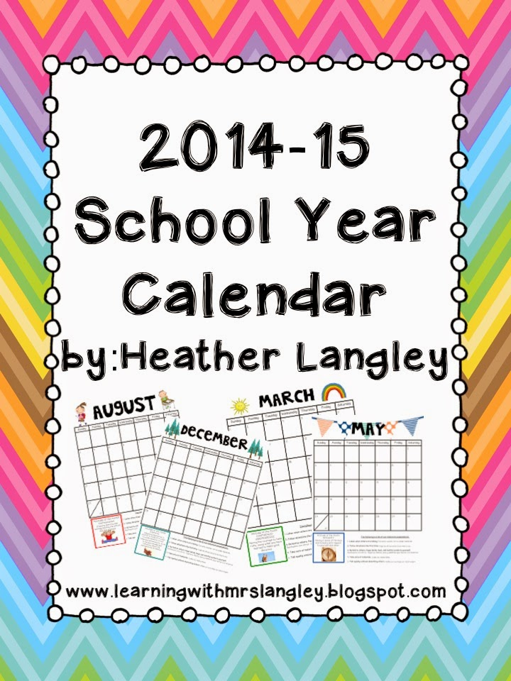 http://www.teacherspayteachers.com/Product/2013-2014-School-Year-Calendar-with-Monthly-IB-Attitudes-293185