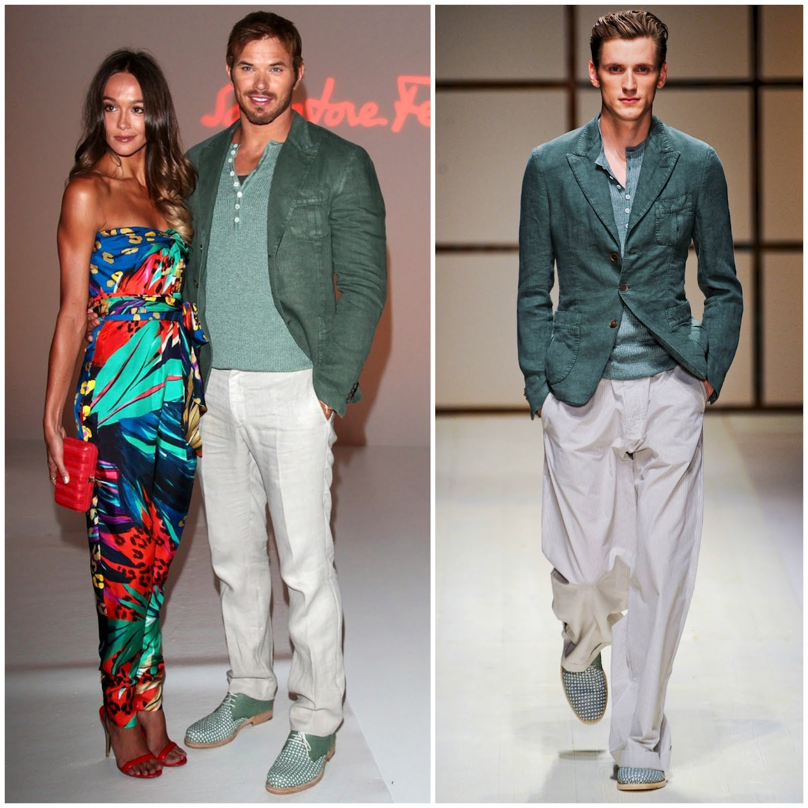 00o00 menswear london blog salvatore ferragamo Spring summer 2013 SS2013 milan fashion week Kellan Lutz