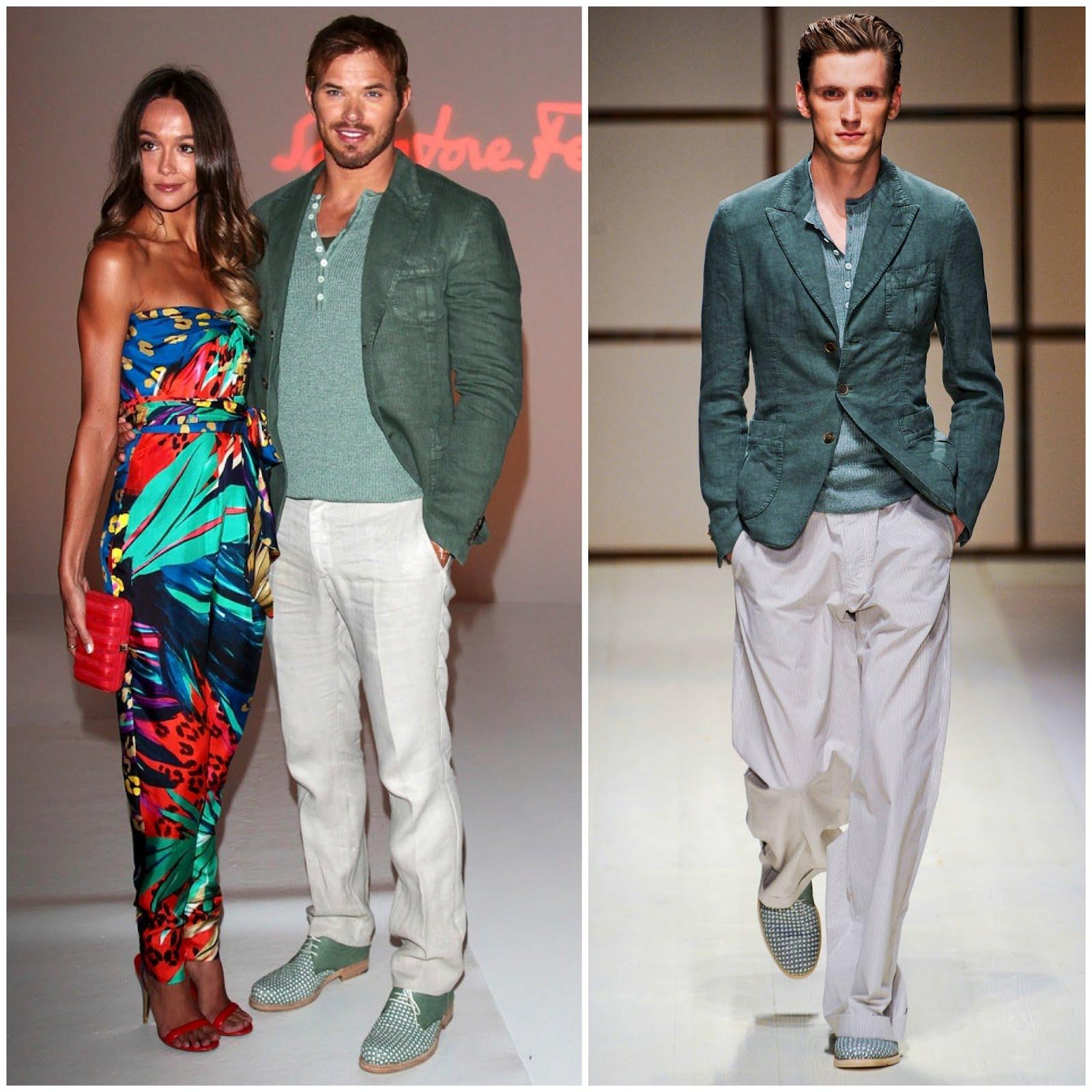 00o00 menswear london blog salvatore ferragamo Spring summer 2013 SS2013 milan fashion week Kellan Lutz