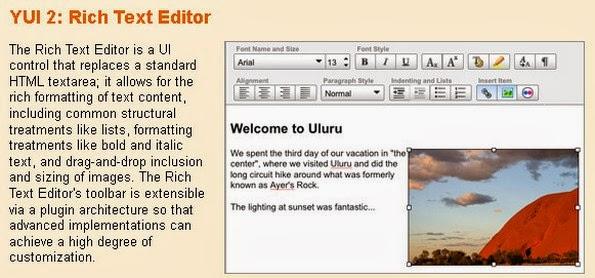 YUI Rich text editor