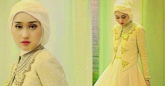 12 Gambar Model Baju Muslim Brokat Terpopuler 2016