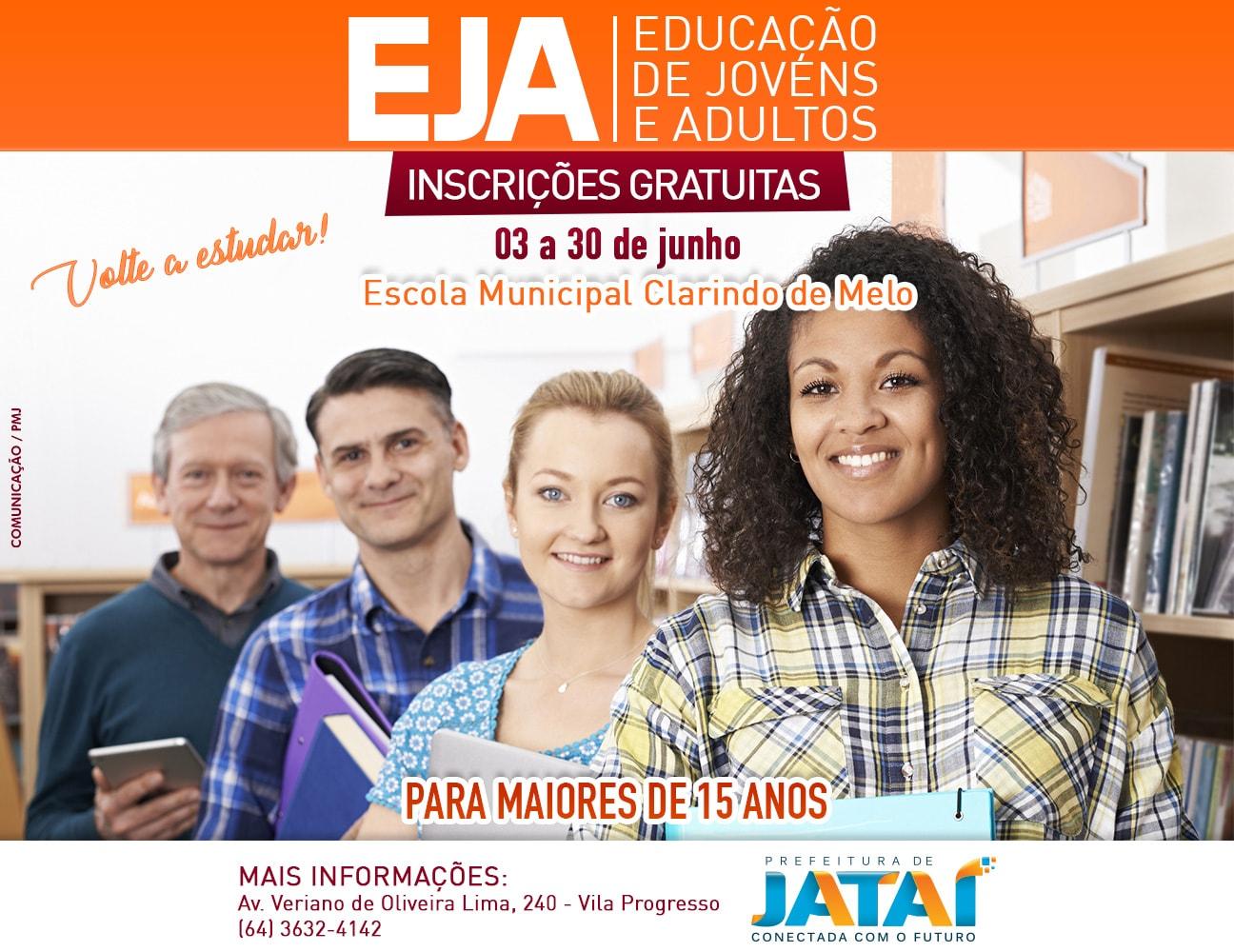 Educação - Estão abertas as inscrições para EJA 2019