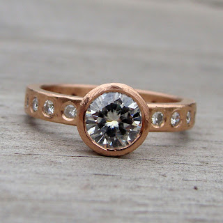 rose gold eternity band