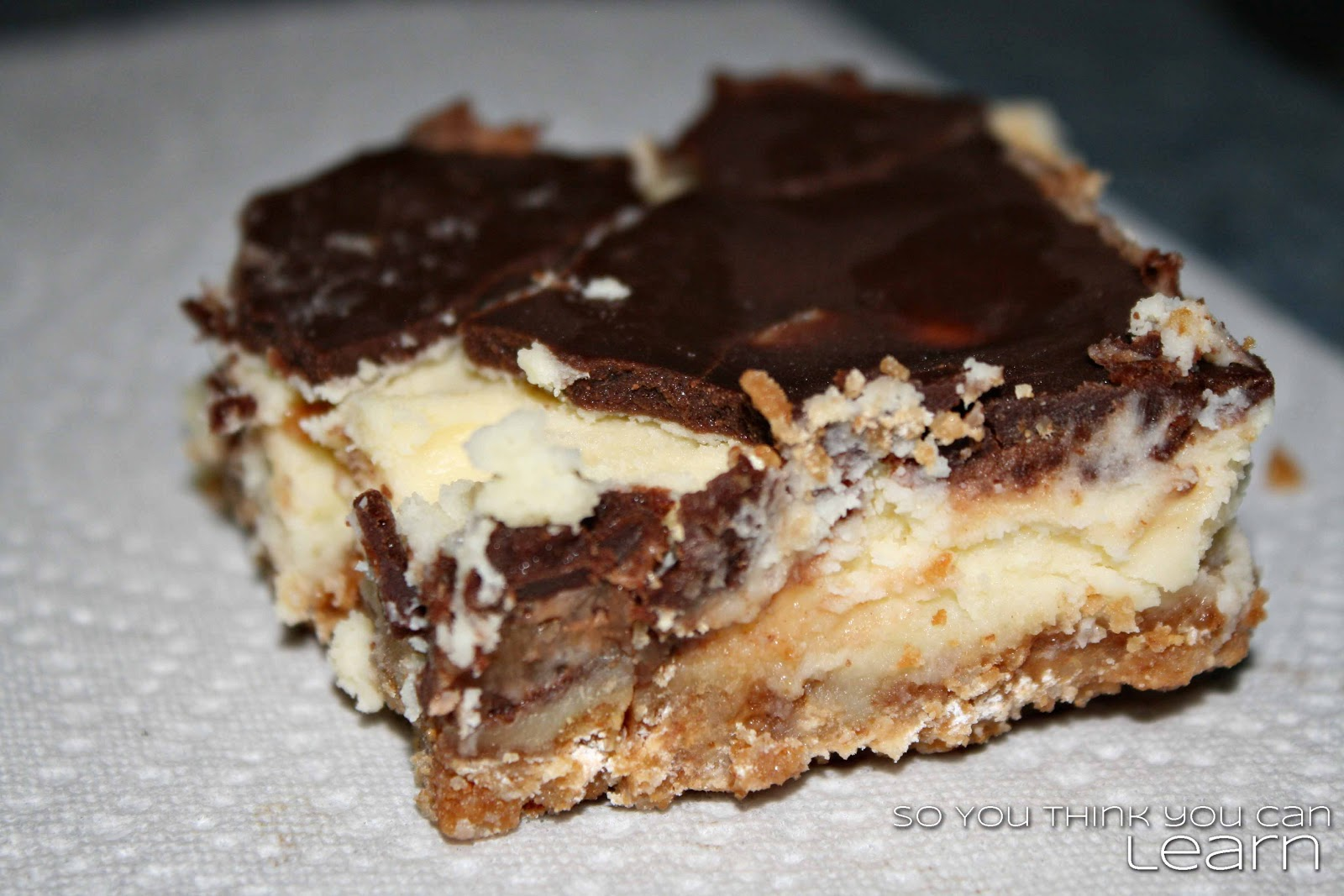 So You Think You Can Learn: Pinterest Heaven ='s Rolo Cheesecake Bars