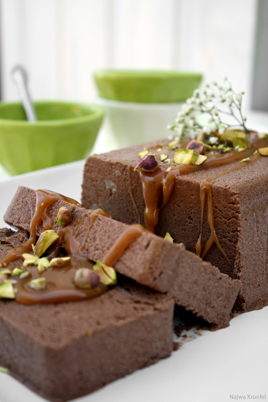 Delicious Shots: Chocolate-Coffee Semifreddo with Salted Caramel Sauce