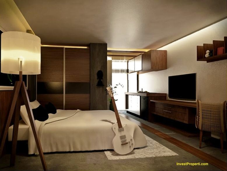 Desain interior apartemen type studio modern terbaru mei for Desain apartemen studio 21m