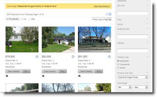 Orland Park real estate MLS search