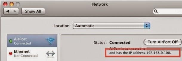 Cara Mencari Alamat IP Di Macintosh