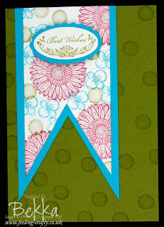 Reason to Smile Bunting Card - Make this card at a Stampin' Up! Party with Bekka during August 2012.  www.feeling-crafty.co.uk