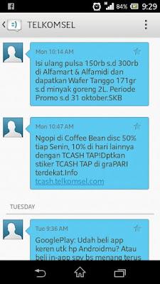 cara menghentikan sms iklan dari telkomsel