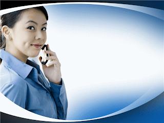 fondo de presentación de negocios mujer al teléfono