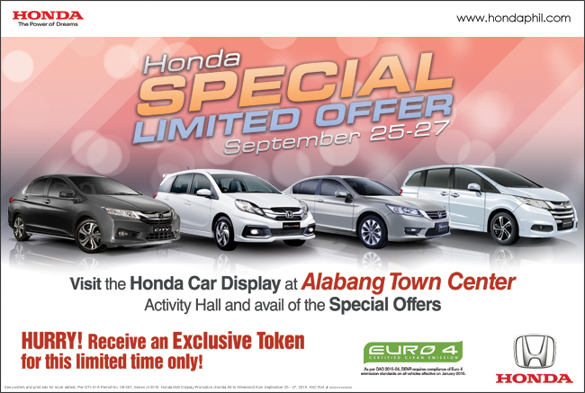 Honda Special Limited Offer